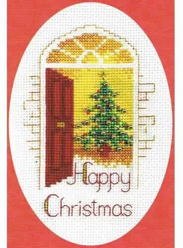 Derwentwater Designs Cross Stitch Kit - Christmas Card, Warm Welcome