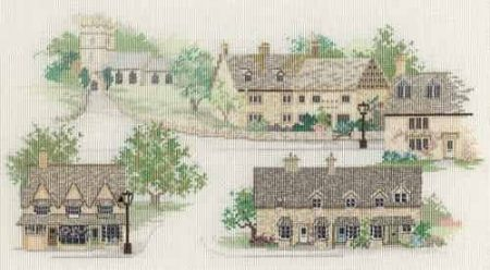 Derwentwater Designs Cross Stitch Kit - Cotswold Village