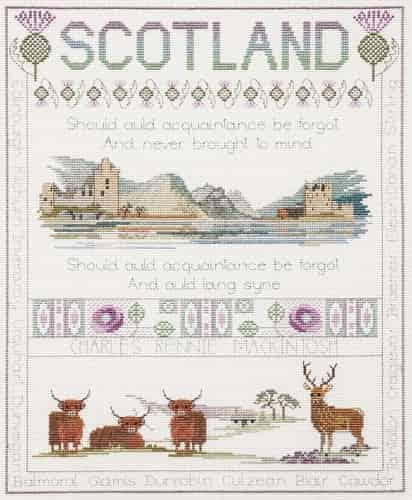 Derwentwater Designs Cross Stitch Kit - Scotland Sampler