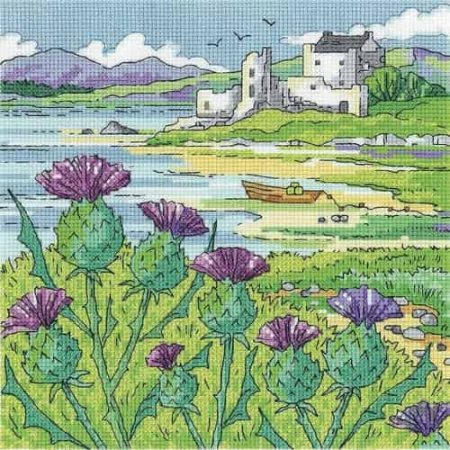 Heritage Crafts Cross Stitch Kit - By the Sea - Thistle Shore