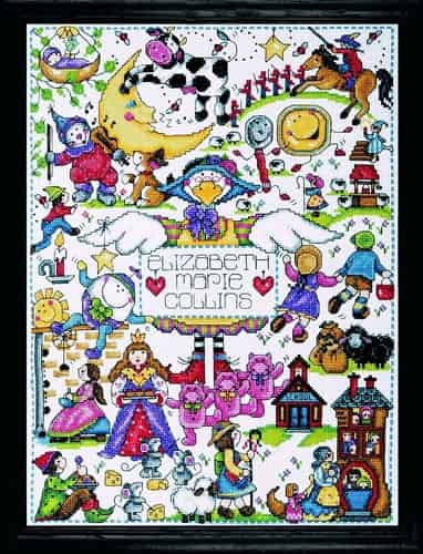 Design Works Cross Stitch Kit -  Nursery Rhymes
