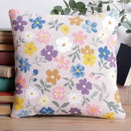 Twilleys of Stamford Cushion Front Tapestry Kit - Fancy Free, Floral