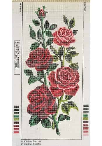 Grafitec Printed Tapestry Canvas - Red and Pink Roses