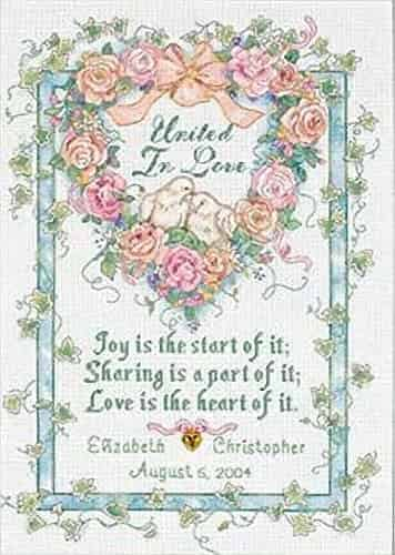 Dimensions Cross Stitch Kit - United in Love Wedding Record