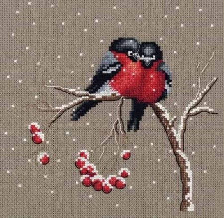 Klart Cross Stitch Kit - Winter Warmth, Birds