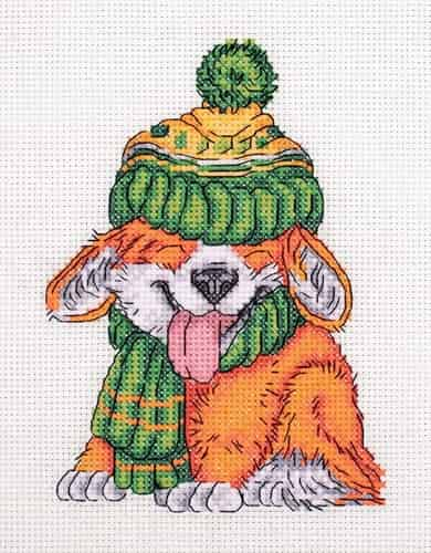 Klart Cross Stitch Kit - Little Corgi