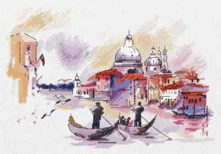 Panna Cross Stitch Kit - Travelling around Venice