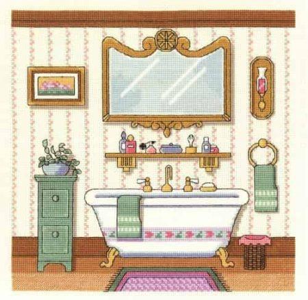 Janlynn Cross Stitch Kit - Victorian Bath