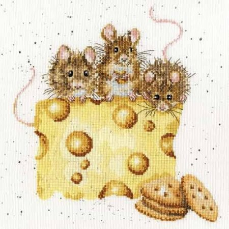 Bothy Threads Cross Stitch Kit - Crackers about Cheese, Mice, Mouse XHD53