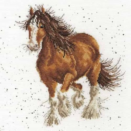 Bothy Threads Cross Stitch Kit - Feathers, Horse XHD43