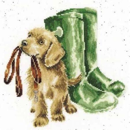 Bothy Threads Cross Stitch Kit - Hopeful, Dog XHD73