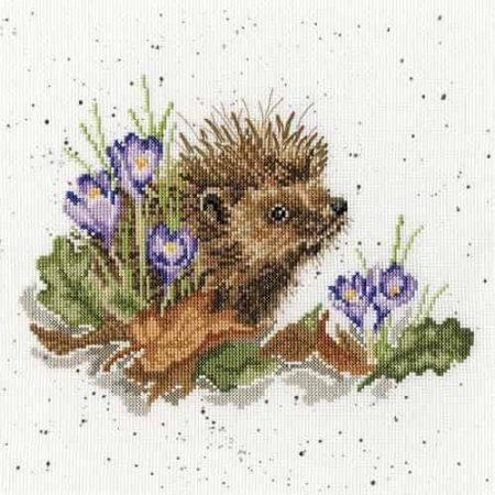 Bothy Threads Cross Stitch Kit -New Beginnings, Hedgehog XHD51