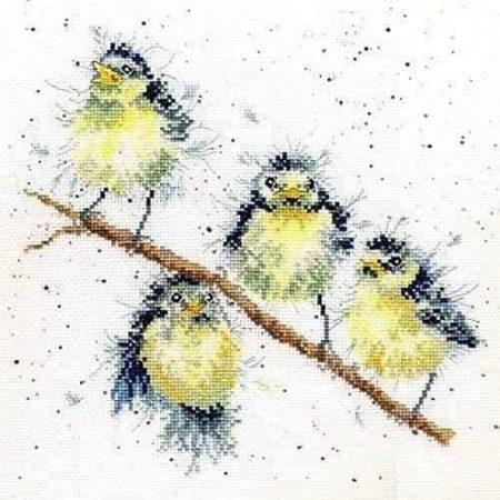 Bothy Threads Cross Stitch Kit - Sweet Tweet, Birds XHD4