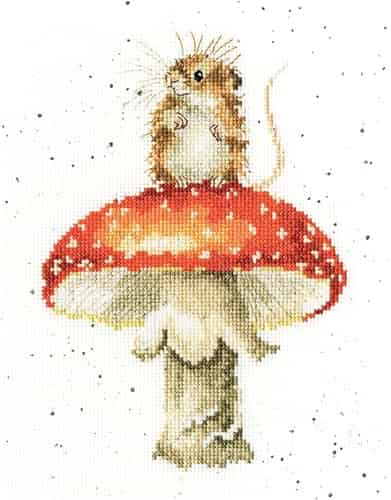 Bothy Threads Cross Stitch Kit - He's a Fun-gi, Mouse XHD74