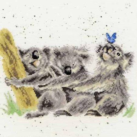 Bothy Threads Cross Stitch Kit - Three of a Kind, Koala Bears XHD20