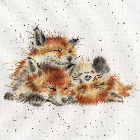 Bothy Threads Cross Stitch Kit - Afternoon Nap, Foxes XHD45