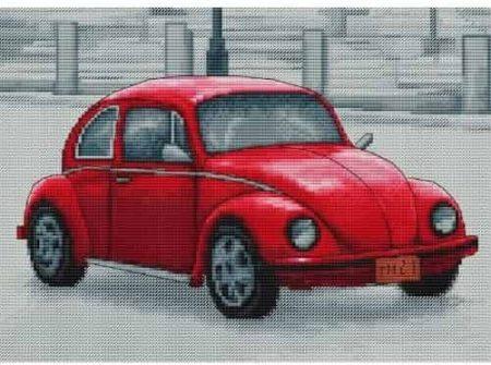 Luca S Cross Stitch Kit - Retro Beetle, Car B2235