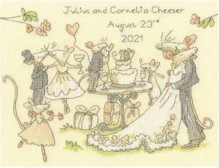 Bothy Threads Cross Stitch Kit - Mice Day for a White Wedding XAJ14