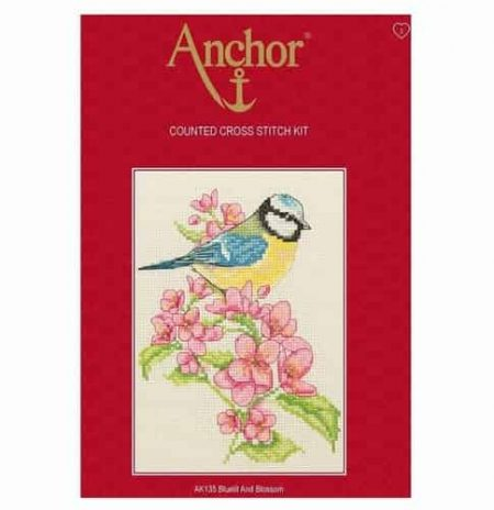 Anchor Cross Stitch Kit - Bluetit and Blossom AK135