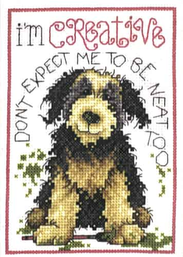 Design Works Cross Stitch Kit - Creative Dog
