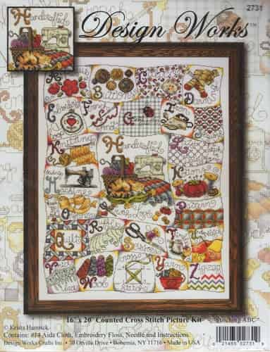 Design Works Cross Stitch Kit - Stitching ABC Sampler