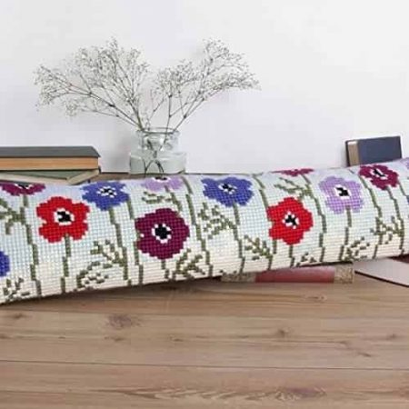 Twilleys of Stamford Draught Excluder Cross Stitch Kit - Anemones, Flowers