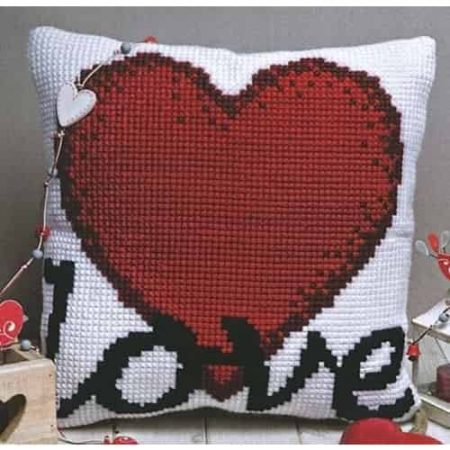 Twilleys of Stamford Cushion Front Cross Stitch Kit - Love