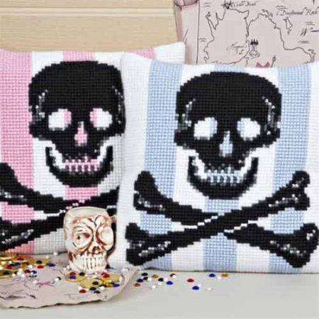 Twilleys of Stamford Cushion Front Cross Stitch Kit - Skull