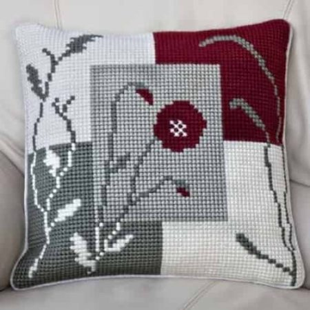 Twilleys of Stamford Cushion Front Cross Stitch Kit - Mosaic Poppy