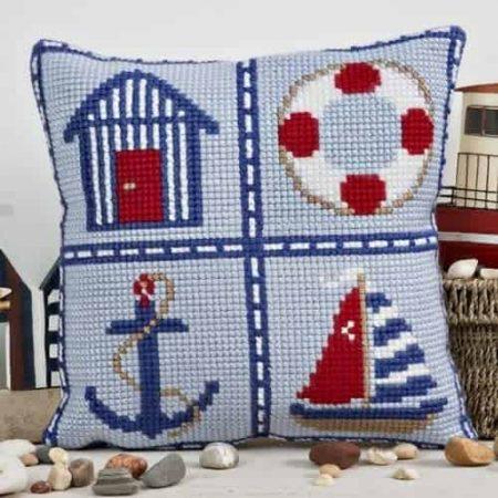 Twilleys of Stamford Cushion Front Cross Stitch Kit - Nautical Cushion