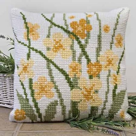 Twilleys of Stamford Cushion Front Cross Stitch Kit - Meadow Flowers