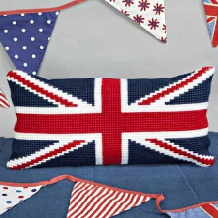 Twilleys of Stamford Cushion Front Cross Stitch Kit - Union Flag