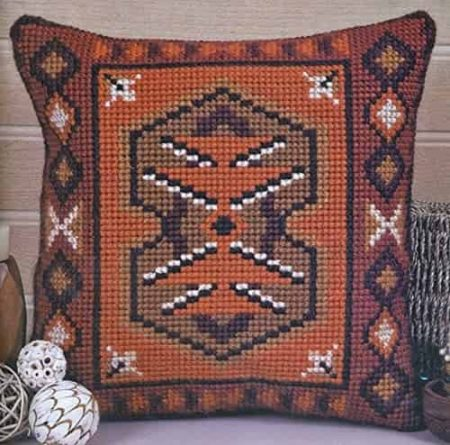 Twilleys of Stamford Cushion Front Cross Stitch Kit - Inca