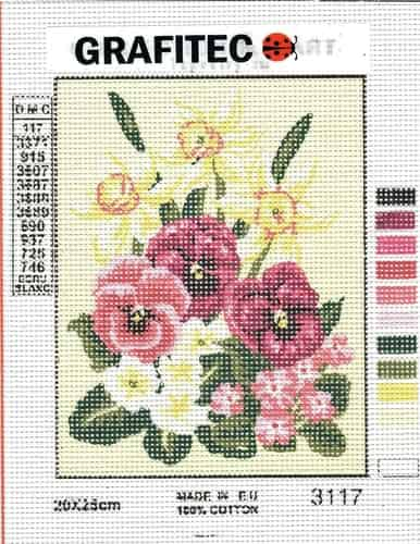 Grafitec Printed Tapestry Needlepoint Canvas - Spring Florals, Daffodils
