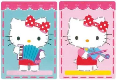 Vervaco Children's Embroidery Kit - Set of 2 pictures - Kitty Plays Music