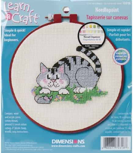 Dimensions Needlepoint Kit - Cat and Mouse - Learn a Craft, Beginners