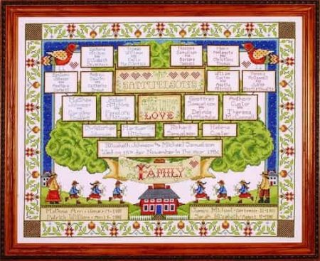 Design Works Cross Stitch Kit - Family Tree 2498
