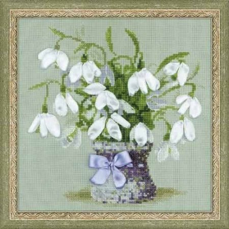 Riolis Cross Stitch Kit - Snowdrops, Flower 1403