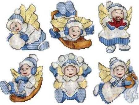 Design Works Cross Stitch Kit  Christmas Tree Ornaments - Baby Angels