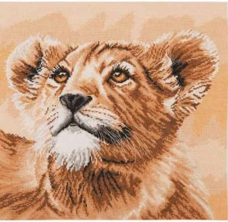 Anchor Maia Collection Cross Stitch Kit - Little Princess, Lion Cub