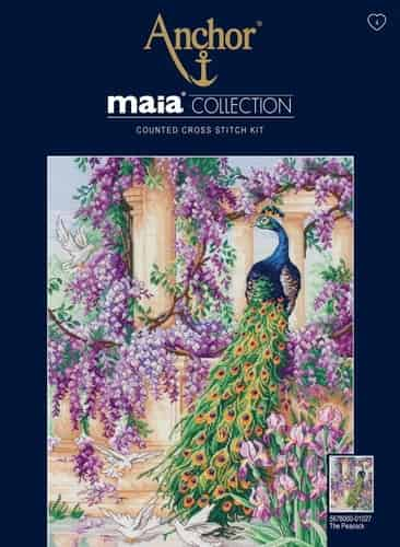 Anchor Maia Collection Cross Stitch Kit - The Peacock