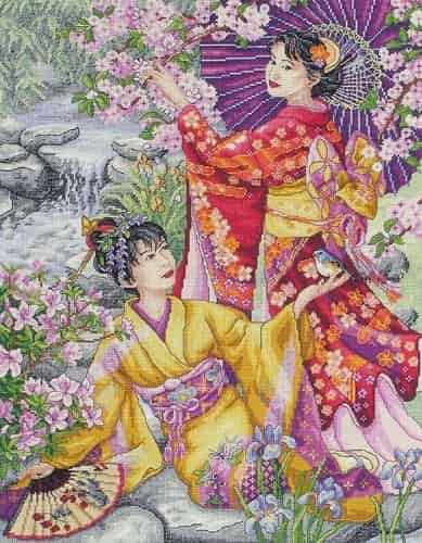 Anchor Maia Collection Cross Stitch Kit - Geishas