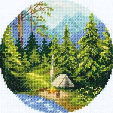 Panna Cross Stitch Kit - Morning in the Forest