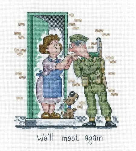 Heritage Crafts Cross Stitch Kit - Golden Years - We'll Meet Again