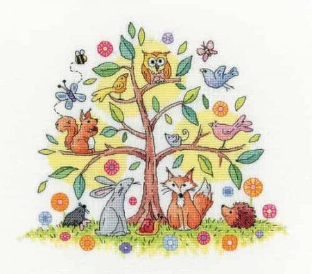 Heritage Crafts Cross Stitch Kit - Tree of Life