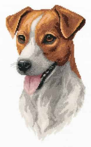 Panna Cross Stitch Kit - Jack Russell Terrier