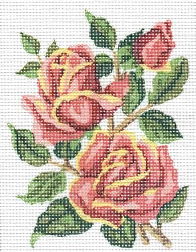 Grafitec Printed Tapestry Needlepoint Canvas - Red Roses