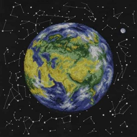Panna Cross Stitch Kit - Planet Earth