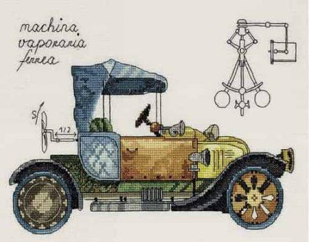 Panna Cross Stitch Kit - Clockwork Vehicle, Car