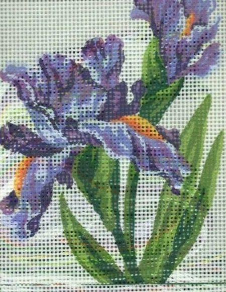 Grafitec Printed Needlepoint Canvas - Irises